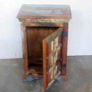 k61-j57-3007 indian furniture bedside rustic open door