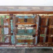 k61-j57-3016 indian furniture rustic sideboard 2 door colourful