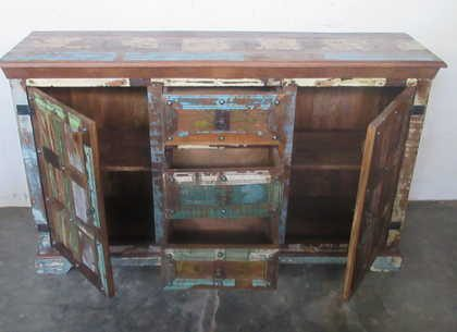 k61-j57-3016 indian furniture rustic sideboard 2 door open
