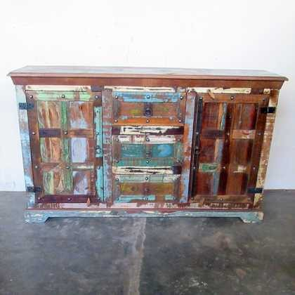 k61-j57-3016 indian furniture rustic sideboard 2 door chunky