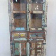 k61-j57-3038 indian furniture cabinet glass door colourful