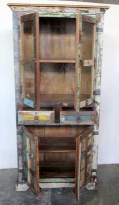 k61-j57-3038 indian furniture cabinet glass door open