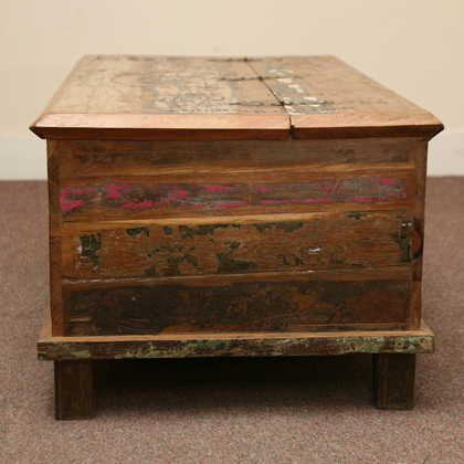 kh5-m0114 indian furniture trunk reclaimed side