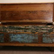 kh5-m0114 indian furniture trunk reclaimed open