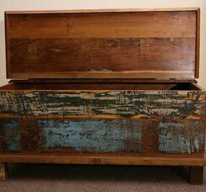 kh5-m0114 indian furniture trunk reclaimed open