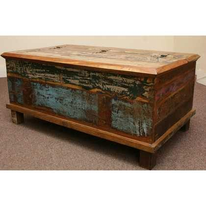 kh5-m0114 indian furniture trunk reclaimed