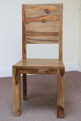 K56-R4277 indian furniture dining chair sheesham wood zen hardwood