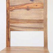 K56-R4277 indian furniture dining chair sheesham wood zen unique grain profile