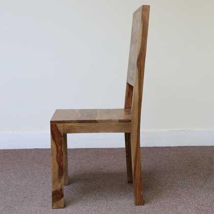K56-R4277 indian furniture dining chair sheesham wood zen profile