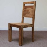 K56-R4277 indian furniture dining chair sheesham wood zen