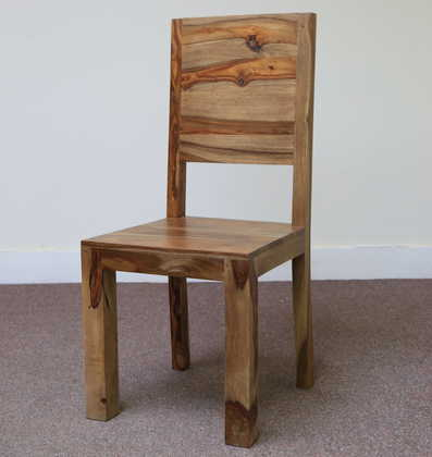 K56-R4277 indian furniture dining chair sheesham wood zen angle view