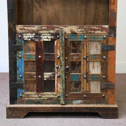 k60-j57-3002 indian cabinet bundi reclaimed 2 door cupboard doors