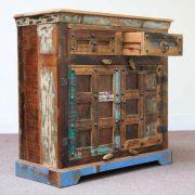 k60-j57-3012 indian sideboard bundi reclaimed 2 drawer open drawer