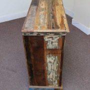 k60-j57-3012 indian sideboard bundi reclaimed 2 drawer 6 side and top view