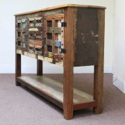 k61-j57-3018 indian furniture console table rustic colourful