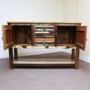 k61-j57-3018 indian furniture console table rustic cupboards open