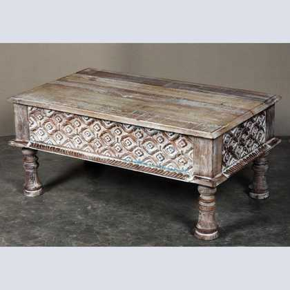 k62-40208-a indian furniture coffee table carved edge legs