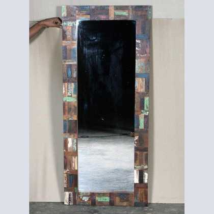 k62-40214 indian furniture mirror reclaimed tall narrow full length