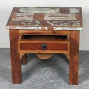 k62-40231 indian furniture table side reclaimed drawer charming