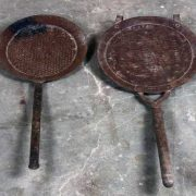 k62-40255 indian ladle sieve hanging old various