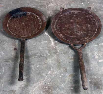 k62-40255 indian ladle sieve hanging old various