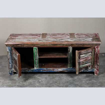 Reclaimed Shutter Door Tv Unit Jugs Indian Furniture Uk