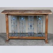 k62-40606 indian furniture console table decorative inset metal blue