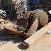 K62-img_8003 indian garden kadai fire pit bowl stand camping bbq original iron