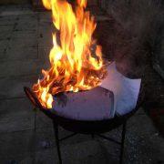K62-img_8003 indian garden kadai fire pit bowl stand camping bbq original burning tax paperwork