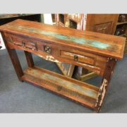 k62 40276 indian furniture console table reclaimed 2 drawer main