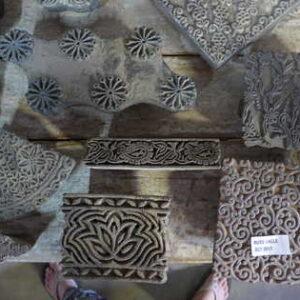 k62-40479 indian print blocks original wooden tshirt printing
