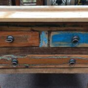kh14 rs18 049 indian furniture unusual reclaimed console table close
