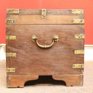k63-40499-d indian furniture trunk storage teak compartment brass plates