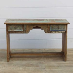 k13-RSO-01 indian furniture desk drawers reclaimed writing
