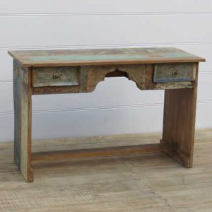 k13-RSO-01 indian furniture desk drawers reclaimed wood