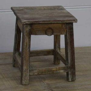 k13-RSO-08 indian furniture stool table mini drawer cute