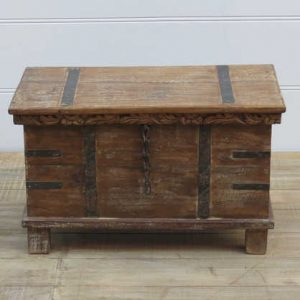 k13-RSO-09 indian furniture trunk storage wooden feet frill top charming