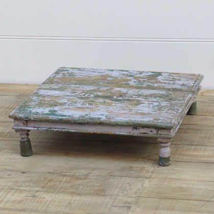 k13-RSO-13 indian furniture low table bajot chokki old vintage