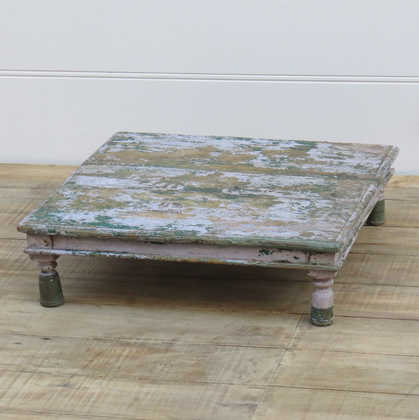 k13-RSO-13 indian furniture low table bajot chokki old vintage