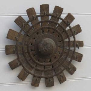 k13-RSO-14 indian wheel hooks unusual hanger hub reclaimed