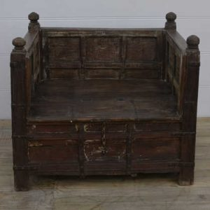 k13-RSO-27 indian furniture seat storage large wooden day bed