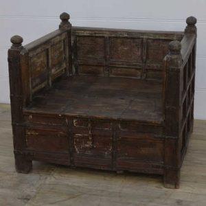 k13-RSO-27 indian furniture seat storage large wooden hardwood