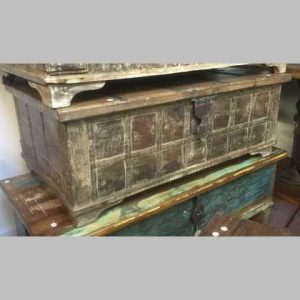 k13-RSO-28-c indian furniture trunk coffee table old rustic
