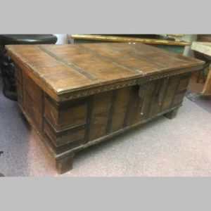 k13-RSO-28-d indian furniture trunk coffee table old vintage
