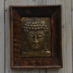 k13-RSO-51 indian picture wooden reclaimed buddha metal brass single