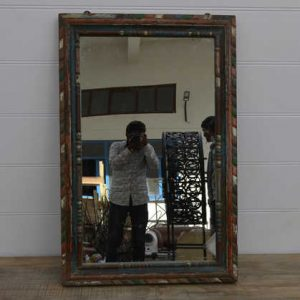 k13-RSO-67 indian mirror frame wooden unusual