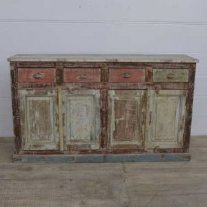 k13-RSO-68 indian furniture sideboard wooden drawers cupboards peach