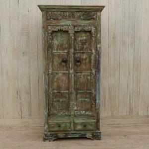 k13-RSO-71 indian furniture cabinet vintage door cupboard storage carved