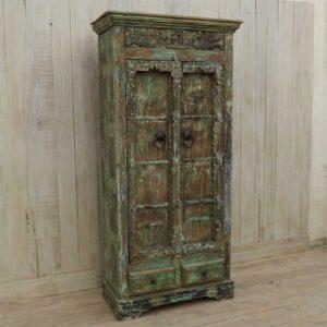 k13-RSO-71 indian furniture cabinet vintage door cupboard storage hardwood