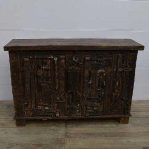 k13-RSO-72 indian furniture sideboard unusual locks metal wooden heavy